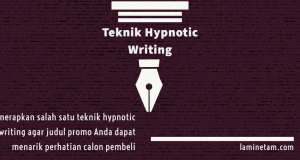 teknik hypnotic writing judul promo menarik
